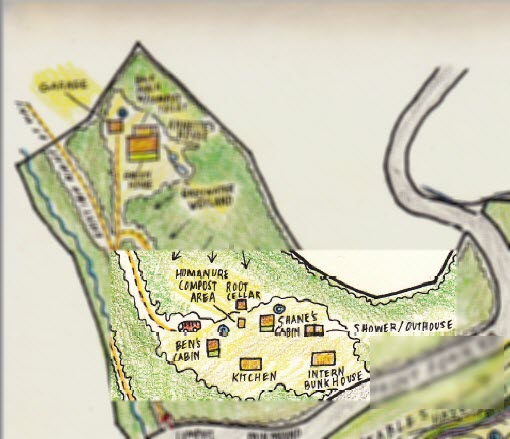 Original permaculture design drawing for the property